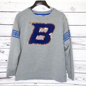 Pink VS Boise state Broncos sweatshirt